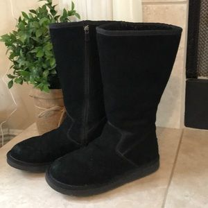 UGG Shoes - UGG Black Tall Sunset Zip Up Boots